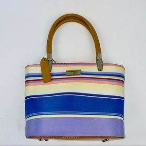 Kate Spade Small Striped Multicolor Handbag Purse